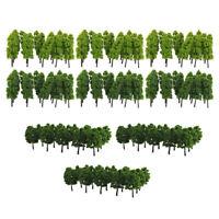 120pcs modèle de paysage de chemin de fer arbres 1/100 HO OO échelle 9cm de