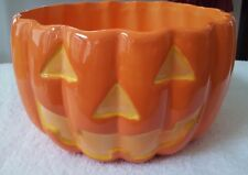 Halloween Pumpkin Munchie Candy Bowl with Original Box- Barely Used, Excellent