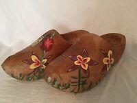 Vintage Dutch Holland Wooden Shoes Clogs Painted Tourist Collect Large 19962