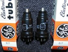 Nos Nib Perfect PAIR England made 6J7 Tube's General Electric vintage KTZ63 6J7G