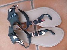 Women's Composition Leather Ankle Straps Block Sandals & Beach Shoes