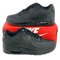 Nike Air Max 90 LTR Triple Black Women's Shoes Sneakers Leather CD6864 001