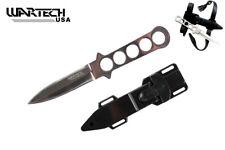Wartech Stainless Steel Dive Knife w/ Belt Sheath