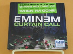 """""""Curtain Call: The Hits [Deluxe Edition]"""" by Eminem (2 Disc Digipak CD, 2005)"""