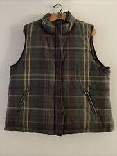 Lauren Ralph Lauren Classic Down Plaid/Solid Reversible Puffer Vest Size XL