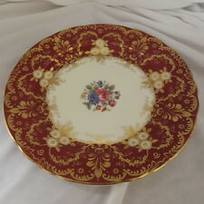 AYNSLEY ROYALTY RED SALAD PLATE FLORAL 8-1/4""