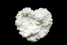 Silicone Molds Soap Making Mould Clay Melting Wax Resin,Floral Heart Angel #1