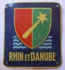 Insigne RHIN ET DANUBE 1° ARMEE DE LATTRE LIBERATION 1944/1945 ORIGINAL 3