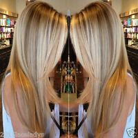 New Blonde Balayage Human Hair Wig 100% European Remy Full Lace Lace front Wig