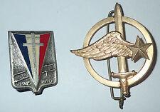 lot 2 insignes militaire a identifier (418) J