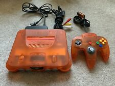Nintendo 64 Fire Orange Funtastic System With Cords And Matching Controller