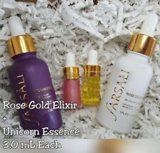 Farsali PINK UNICORN TEARS ESSENCE + ROSE GOLD ELIXIR ~ SAMPLER DUO LOT 3mL Each