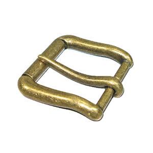 "1.5"" (38mm) Mens Roller Belt Buckle Heel Bar Leather Belt Buckles Antique Brass"