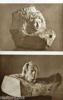 Fotograbado Auguste Rodin DE Aurora Altura Relieve Y Mozart Mármol ARTE