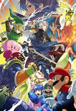 Super Smash Bros Art Poster - Ultimate Melee Brawl - NEW - 11x17 13x19 17x25