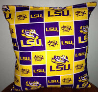 LSU Pillow Louisianan State University Pillow Football Pillow NCAA HANDMADE USA