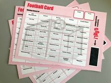 More details for pack of 50 football card fundraising charity fete pub club scratch card 40 teams