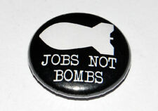 JOBS NOT BOMBS 25MM / 1 INCH BUTTON BADGE SOCIALISM LABOUR PARTY