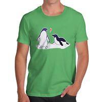 Twisted Envy Men's Premium Cotton Penguin Love T-Shirt