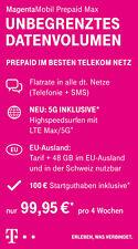 Telekom Wertkarte/bon Magenta mobil Prepaid Max Startguthaben