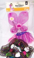 Halloween Skeleton Skull Wreath,and GIrl's Butterfly Costume Age 3+ One Size