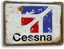 Cessna Aviation Logo Plane Jet Airplane Vintage Retro Decor Metal Tin Sign New