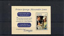 Tonga 2014 MNH Prince George Royal Baby Christening 1v S/S Prince William Kate
