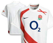 Nike 2007 England Rugby Union Jersey Men's Large White RFU