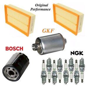 Tune Up Kit Air Oil Fuel Filters Spark Plugs For JAGUAR XKR V8 4.2L 2003-2006