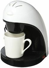 Brentwood TS-112W Single Cup Coffee Maker - 120W-White