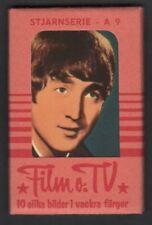 THE BEATLES / JOHN LENNON / 1965 SWEDISH 10 CARD GUM PACK / UNOPENED