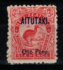 New Zealand Aitutaki 1903 6d Ono Pene SG6 Mint MH