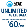 AT&T Prepaid Plan With Unlimited 4G LTE Data Included (Bring Your Own Device)