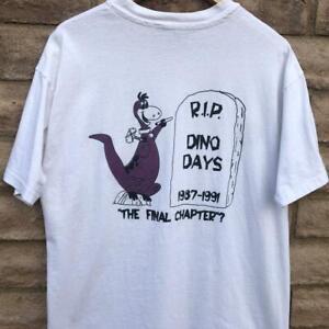 VTG 90s Hanes Beefy Dino Days Flintstones Cartoon TV SINGLE STITCH T Shirt XL