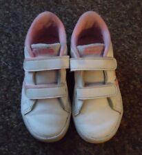 adidas velcro fastening white/pink trainers UK 9K
