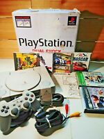 Sony PS1 SCHP-7501 Video Game Console Lot in Box Tested Final Fantasy VIII + IX