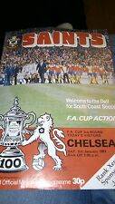 SOUTHAMPTON V CHELSEA FA CUP 3RD ROUND PROGRAMME 1980/81 SEASON VGC