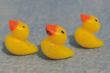 Pack 3 Yellow Baby DUCK Dolls House Miniature Nursery Accessory Toy