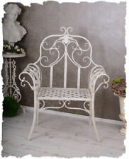 Sedia da Giardino Del Castello Poltrona-Ferro Shabby Chic Poltrona Bianco