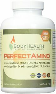 PerfectAmino (300 Tablets) 8 Essential Amino Acid Tablets with BCAA by