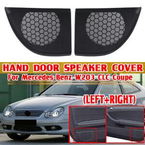 2x Interior Door Speaker Cover Trim For Benz C-Class W203 CL203 Coupe GLC 2 Door