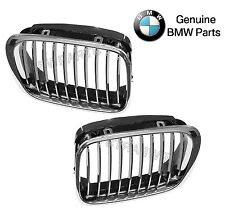 NEW BMW E46 323 325 328 330 Pair Set of 2 Front Chrome Frame & Grille Genuine