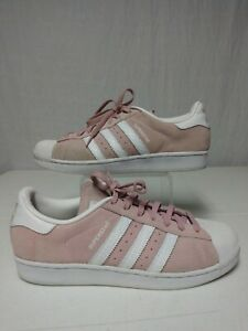 WOMENS Adidas SuperStar Suede (S76155) Pink/White Size 10
