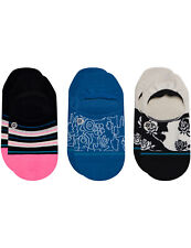 Stance Reign Check 3 Pack No Show Socks in Multi