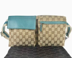 GUCCI Monogram GG Fanny Pack Belt Bag / M310-21101