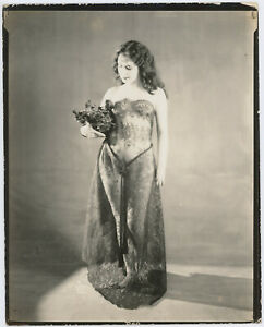 Vintage 1920s Arcade Card Proof Photograph Beautiful Risqué Jazz Age Alta Studio