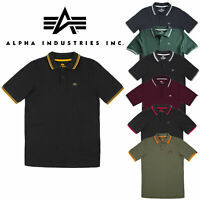 Alpha Industries Twin Stripe Polo II Herren Poloshirt Polo 166602
