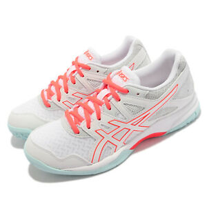 Asics GEL-Task 2 White Red Blue Women Volleyball Badminton Shoes 1072A038-960
