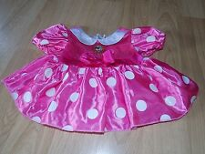 Size 12 Months Disney Store Minnie Mouse Costume Dress Pink White Polka Dots GUC
