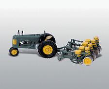 Échelle H0 - Matériau de Construction en Métal Tracteur avec Machine à Planter